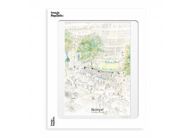 Affiche Sempé – Le Café de Flore 30x40 - Image Republic