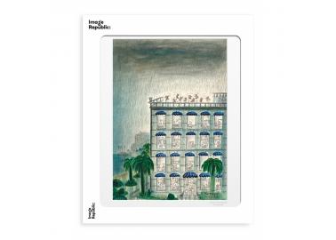 Affiche Sempé – Immeuble pluie 30x40 - Image Republic