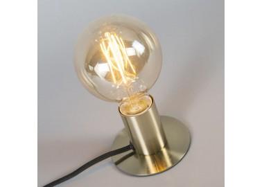 Lampe art déco en laiton - Allumée - Qazqa