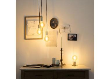 Lampe art déco en laiton - Salon - Qazqa