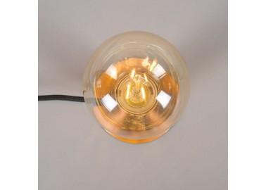 Lampe art déco en laiton - Globe - Qazqa