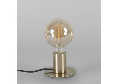 Lampe art déco en laiton - Eteinte - Qazqa