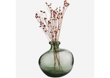 Vase en verre organique vert - Fleurs - Madam Stoltz