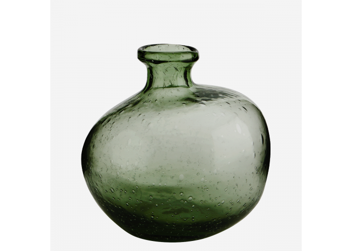 Vase en verre organique vert - Madam Stoltz