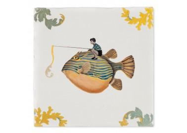 Carreau de céramique – Natural history museum / Catch of the day - Storytiles