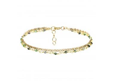 Bracelet Fanette vert - By164