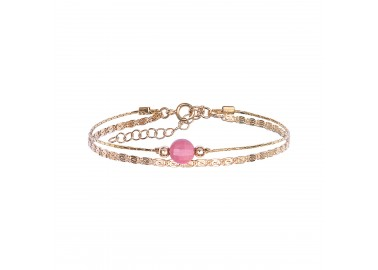 Bracelet Jacynthe rose - By164