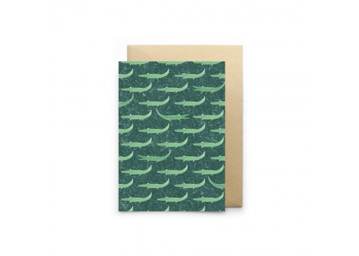 Carte Crocodiles Verts