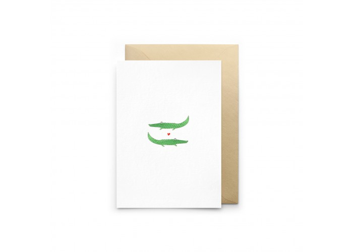 Carte Crocodiles Amoureux