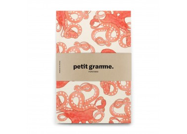 Carnet A5 Poulpe Blanc - Petit Gramme