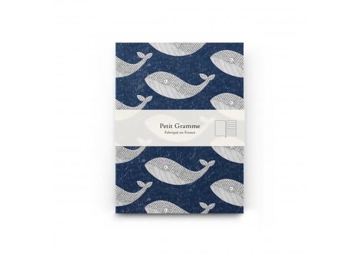 Carnet A6 Baleine Bleue