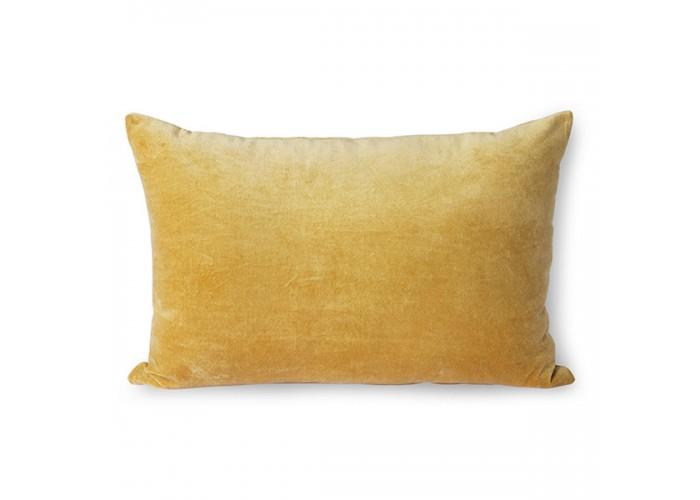 Coussin en velours jaune or (40x60)