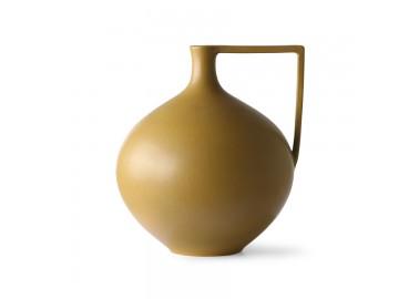 Pot en céramique moutarde avec anse - HK Living