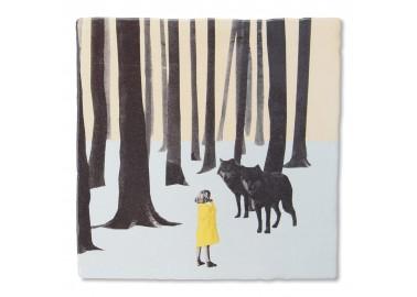 Carreau de céramique – Wolf girl - Storytiles