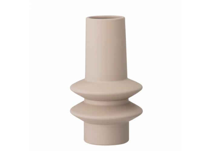 Vase beige en grès - Bloomingville