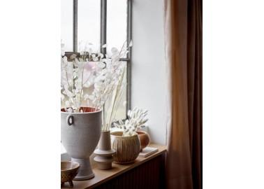 Vase beige en grès - Pots - Bloomingville