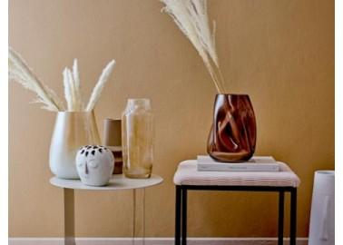 Vase beige en grès - Salon - Bloomingville