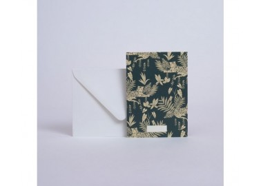 Carte Jungle Emeraude - Enveloppe - Season Paper