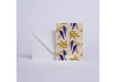 Carte Parrots - Enveloppe - Season Paper
