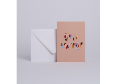 Carte Bloom Happy Birthday - Enveloppe - Season Paper