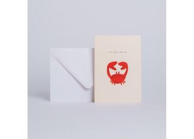 Carte Crabe J'en pince pour toi - Enveloppe - Season Paper