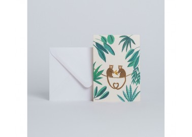 Carte Monkey - Enveloppe - Season Paper