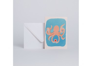 Carte Octopus in love - Enveloppe - Season Paper