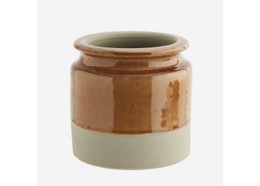 Pot de fleurs en céramique moutarde - Madam Stoltz
