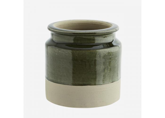 Pot de fleurs en céramique vert - Madam Stoltz