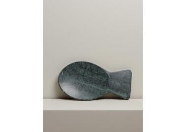Petit plateau poisson en marbre vert - Chehoma