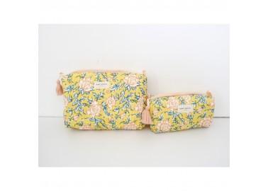 Trousse large Bouquet du matin Mimosa - Trousse de toilette - Bindi Atelier