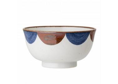 Bol en porcelaine avec motifs demi-lunes - Bloomingville