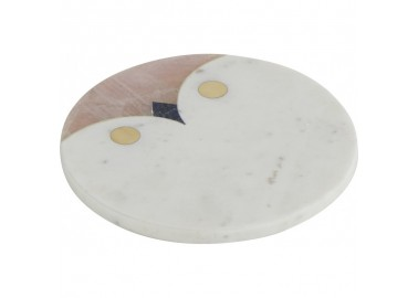Dessous de plat Chouette en marbre - Athezza