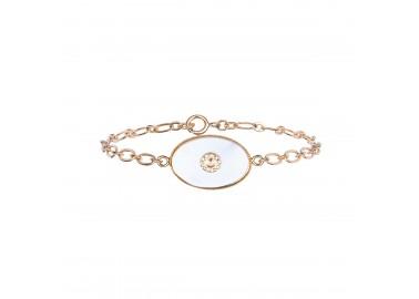 Bracelet Alix en nacre blanche - By164
