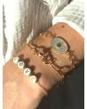 Bracelet Alix en nacre blanche - Poignet - By164