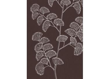 Affiche Fougères sur fond bordeaux 30x40 - The Dybdahl Co