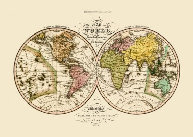 Affiche Carte du monde 50x70 - The Dybdahl Co