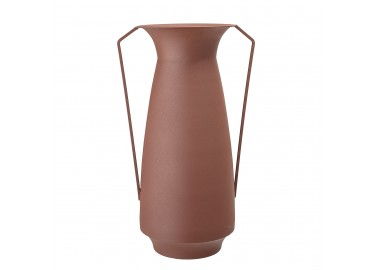 Vase Rikkegro en métal terracotta foncé - Bloomingville