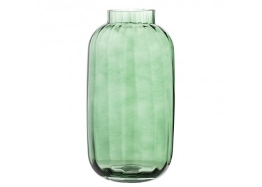 Vase Nadena vert à rayures - Bloomingville