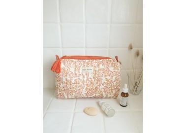 Trousse large Lilas Corail - Salle de bain - Bindi Atelier
