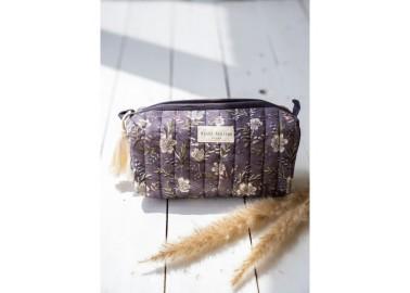 Trousse medium Hamelia Iris - Motif floral - Bindi Atelier