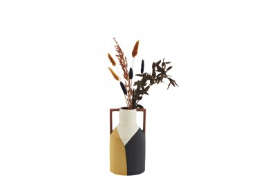 Vase en terre cuite avec anses - Fleurs séchées - Madam Stoltz