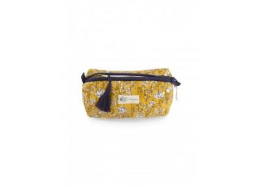 Trousse medium Sarika Mimosa Bindi Atelier x Obi Obi - Fermeture zippée