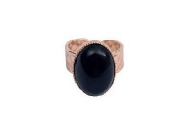 Bague Cabochon noire - By164