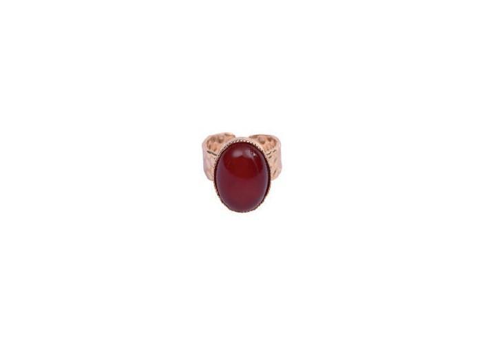 Bague Cabochon rouge - By164
