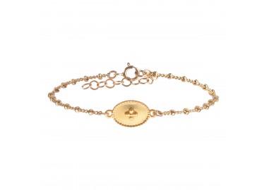Bracelet Flocon mat - By164