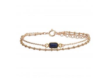 Bracelet Pia Saphir bleu - By164