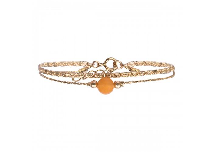 Bracelet Jacynthe jaune - By164
