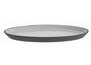 Grande assiette grise en céramique - Nordal