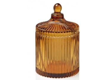 Boîte en verre ambre - Andrea House